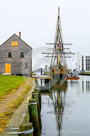 Free Historic Ship Named Three-masted Friendship Anchored In Salem Harbor Royalty Free Stock Photography - 74676427