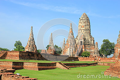 Historic site in Ayutthaya,Thailand