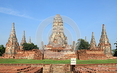 Historic site in Ayutthaya,Thailand