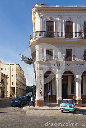 The historic Sloppy Joe s bar in Havana Editorial Photography