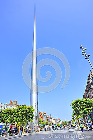 The historic Spire of Dublin Editorial Image
