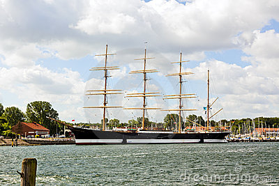 Historic steel barque Passat at Travemunde harbor