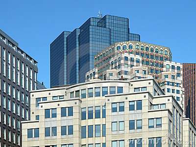 Historic Stone and Modern Glass Office Buildings