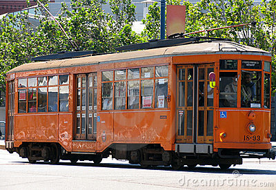 Historic Street Car (Orange)