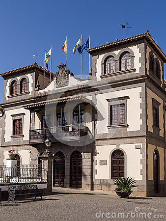 Free Historic Town Hall In Gran Canaria,  Spain Stock Photos - 51402453