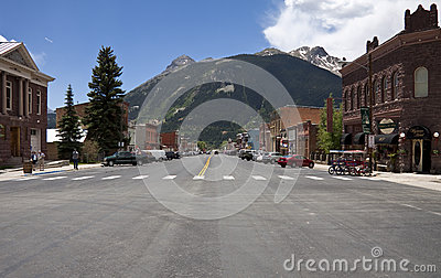 Historic town Silverton Editorial Photo