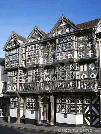 Historic Tudor Hotel, England Editorial Photo