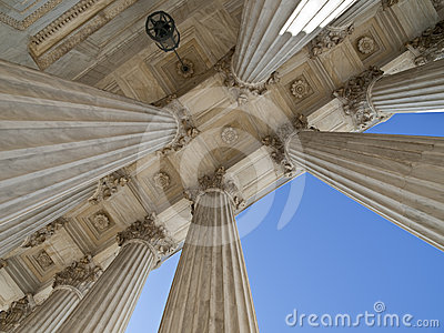Historic US Supreme Court Building Columns