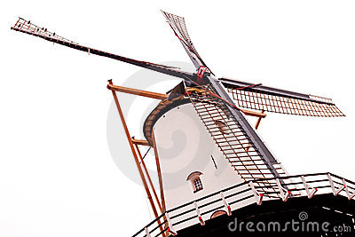historic wind Mill in perspective