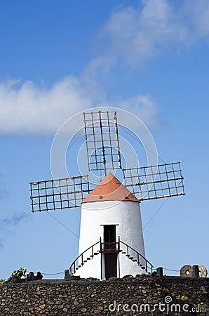 Historic windmill, Jardin de Cactus, lanzarote