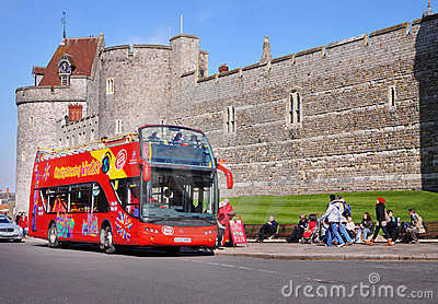 Historic Windsor Castle in England Editorial Photography