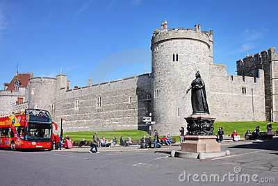 Historic Windsor Castle in England Editorial Stock Image