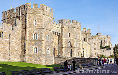 Historic Windsor Castle in England Editorial Image
