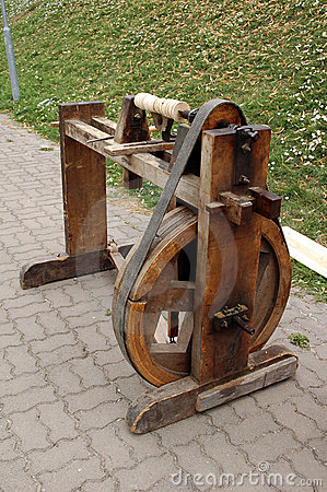 Historic Wood Turning Machine