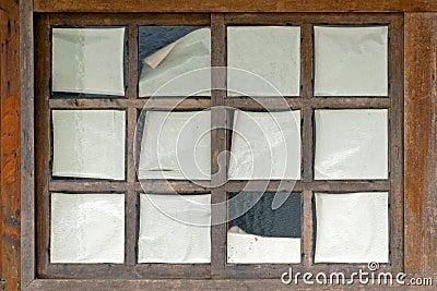 Historic wooden window