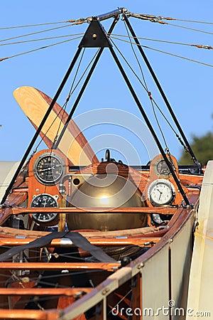 Historical aircraft Bleriot XI cockpit