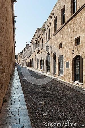 Historical alley in Rhodes
