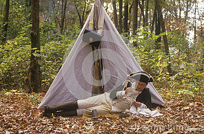 Historical American Revolutionary war event Editorial Photography