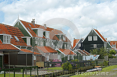 Historical architecture in Marken, the Netherlands