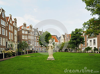 Historical area in center of Amsterdam