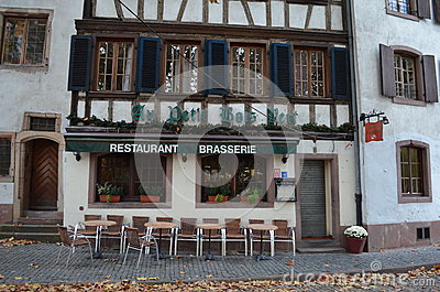 Historical Brasserie in Strasbourg / France Editorial Photography