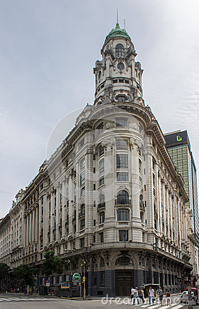Historical Building Buenos Aires Editorial Photo