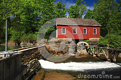 Historical building of Old water sawmill.