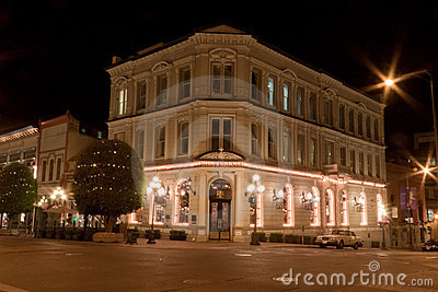 Historical Building in Vitoria at night