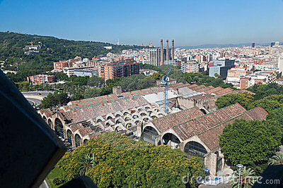 Historical Buildings Barcelona Spain Editorial Photo