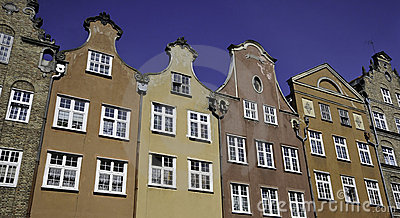 Historical buildings in Gdansk