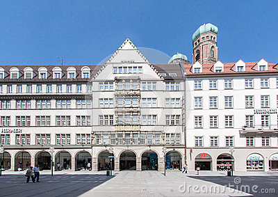 Historical Buildings Munich Editorial Photo