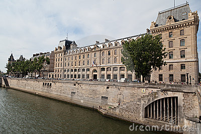 Historical Buildings in Paris Editorial Stock Photo
