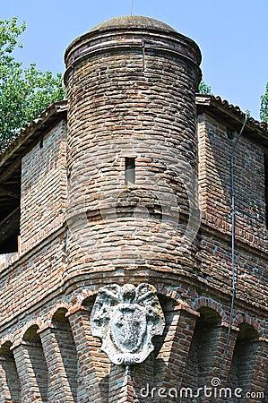 Historical castle of Emilia-Romagna. Italy.