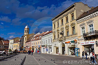 Historical center of Brasov city Editorial Stock Image