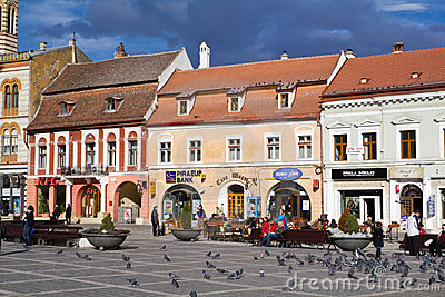 Historical center of Brasov city Editorial Image
