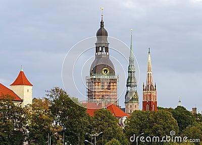 Historical center of Riga, Latvia