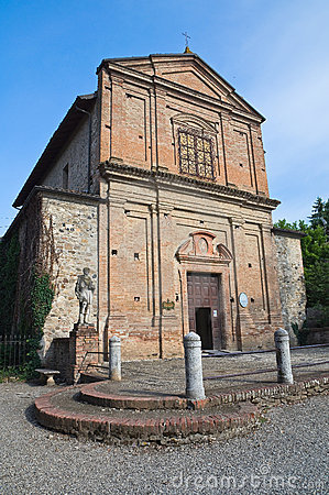 Historical church of Emilia-Romagna. Italy.