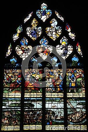 The historical church of Pont de l arche in L Eure