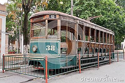 Historical Electric Tram Sao Paulo Brazil
