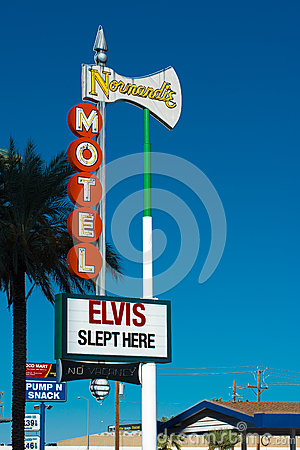 Free Historical Elvis Slept Here Sign In Las Vegas Royalty Free Stock Image - 35084116