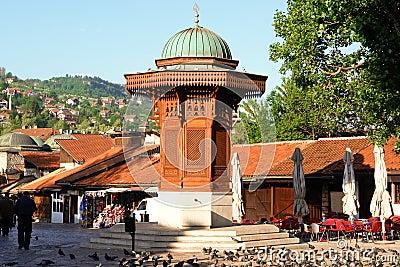 Historical fount in Sarajevo, Bosnia Herzegovina