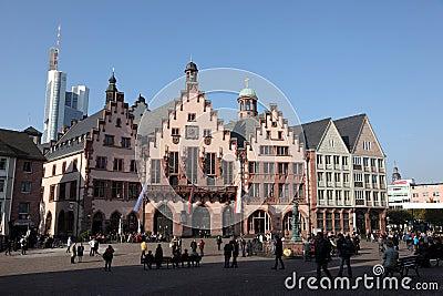 Historical Frankfurt Main, Germany Editorial Stock Photo