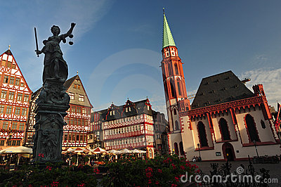 Historical Frankfurt Main, Germany Editorial Stock Image