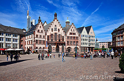 Historical Frankfurt Main, Germany Editorial Stock Photo