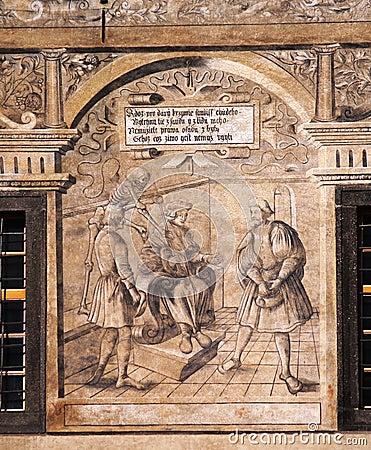 Historical fresco