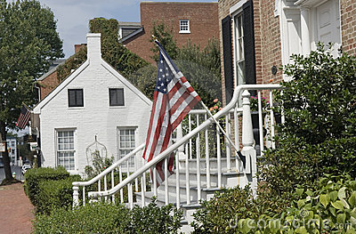 Historical houses in Frederick, Maryland.
