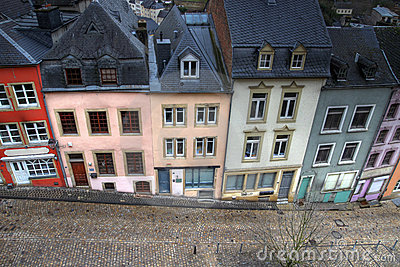 Historical houses in Luxembourg city