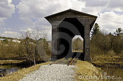 Historical inactive Covered Train Bridge