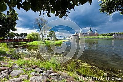 Historical Kalmar castle in Sweden Scandinavia Europe. Landmark.
