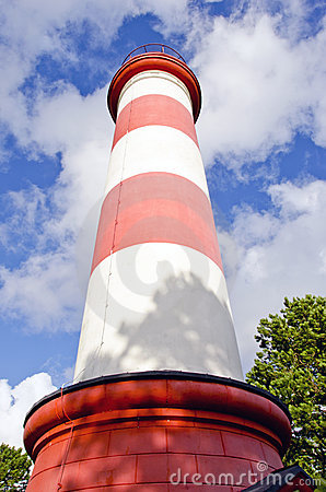 Historical lighthouse and sky